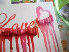 How to make Melted Crayon Art with the addition of Words