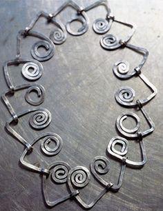 Necklace   Alexander Calder.  Nickel silver wire.  ca. 1930