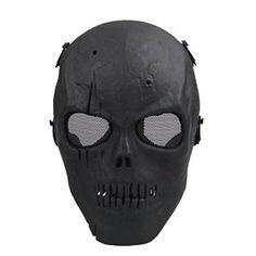 Need buy Airsoft Mask Halloween Cs Wargame Mask Skull Skeleton Full Face Mask (C) for Halloween Gifts Idea Sales for #Halloween Gifts Idea Online