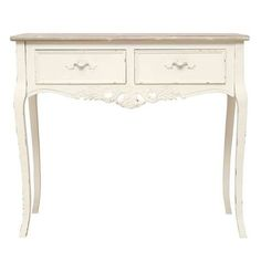 Camille White Dressing Table