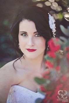 Inspired by the story of Snow White, this styled shoot is so dreamy! Photos by SunkissedStudio Bridal Hair And Makeup, Bridal Beauty, Hair Makeup, Snow White Wedding, White Bridal, Story Of Snow White, Wedding Photography Inspiration, Stunning Dresses, Bridal Portraits