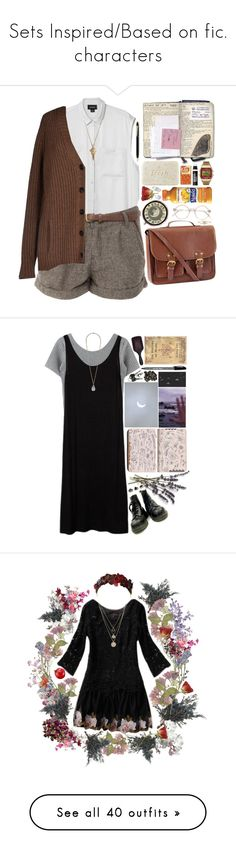 """Sets Inspired/Based on fic. characters"" by constellvtion ❤ liked on Polyvore featuring movie, book, comic, fictionalcharacter, Monki, H&M, Fresh, Timex, IL Design and MANGO"