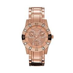 Relic Beth Rose Gold Tone Crystal Watch