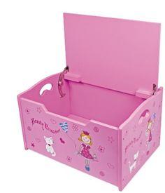 """Venta Baúl guarda juguetes de madera infantil, mod. """"La princesa"""". Ref Berlín 5354    Mueble práctico para guardar cosas y asiento c&o .."""