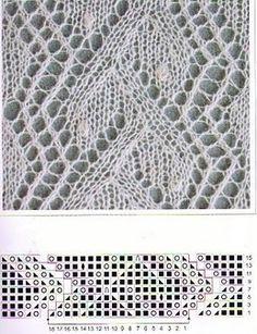 kötött minták 4 Lace Knitting Patterns, Knitting Charts, Lace Patterns, Loom Knitting, Knitting Stitches, Stitch Patterns, Knitting For Kids, Knitting Projects, Filet Crochet