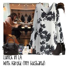 """Lunch in LA with Harold (my husband)"" by jaynnelinsstyles ❤ liked on Polyvore featuring Chicwish, H&M, Balenciaga, Smashbox, Marc Jacobs, women's clothing, women's fashion, women, female and woman"
