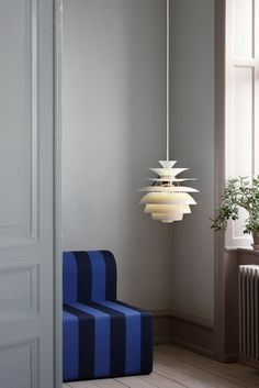In love with Danish lighting: Louis Poulsen PH Snowball lamp Beautiful Interior Design, Beautiful Interiors, Interior Design Inspiration, Ph Lamp, Minimalist Interior, Danish Design, Luxury Interior, Wall Colors, Lights