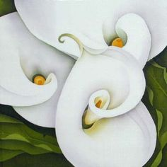 Silk Painting Arum Lilies - Leonard Thompson