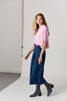 cotton Made in the USA Model is wearing a S. Model is a US 2 in dresses & bottoms, 26 denim and S in tops. Cotton Citizen, Flamingo, Tokyo, Harem Pants, Tees, Shirts, Short Sleeves, Denim, Model