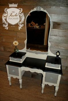 Antique Vanity Makeover.   Payton's without mirror