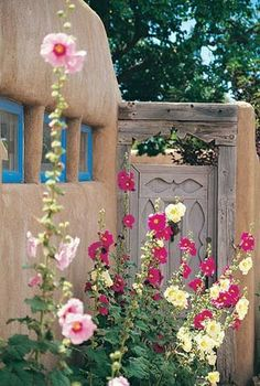One day I will build garden rooms with rendered strawbales. Like these. Maybe with Chinese moon gates! Eclectic!