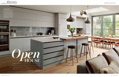 Roundhouse kitchen featured in Essential Kitchen Bedroom and Bathroom magazine