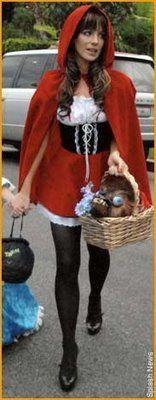 Kate Beckinsale disfrazada de Caperucita Roja