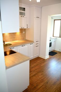 Mobila de Bucatarie Clasica cu Usi din MDF Alb Titan Model Frezare A62P Titanic, Kitchen Cabinets, Model, House, Home Decor, Kitchen Design, Decoration Home, Home
