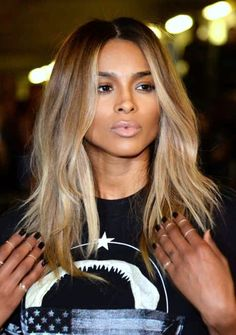 Pinterest: DEBORAHPRAHA ♥️ Ciara blonde hair color #blonde #ombre #hair #ciara
