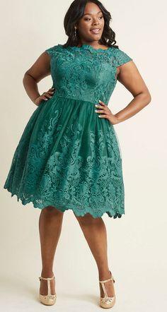 6c833c855df4d Green Cocktail Dress Plus Size - Newest Green Plus Size Dresses -. Green Lace  Overlay ...