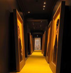 Giant frames in hallway