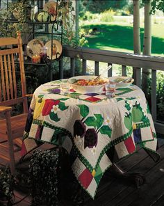 From The Earth Quilted Tablecloth