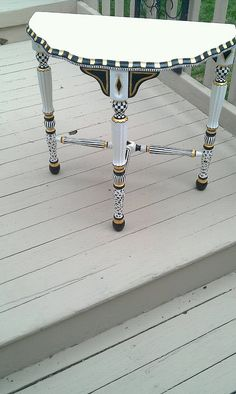 Hand Painted Table by calicocat12 on Etsy