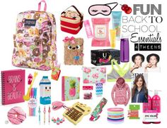 Sweet, fun back to school essentials for tweens girls tween What's In My Backpack, Backpack For Teens, School Supplies Organization, Back To School Supplies, Backpack Organization, School Kit, School Bags, School Stuff, School Ideas