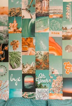 Your place to buy and sell all things handmade Summer Blue Collage Kit Collage Wall Decor Wall Collage Decor, Bedroom Wall Collage, Photo Wall Collage, Picture Wall, Wall Decor, Collage Walls, Cute Room Ideas, Cute Room Decor, Beachy Room Decor