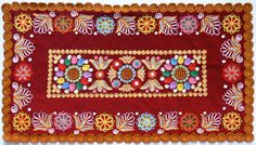 Folk Embroidery Patterns Slovakian folk embroidery sewn in Detva. Tambour Embroidery, Folk Embroidery, Learn Embroidery, Embroidery For Beginners, Hand Embroidery Designs, Embroidery Techniques, Cross Stitch Embroidery, Embroidery Patterns, Machine Embroidery