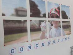 Baseball Birthday Party Pennant Banner
