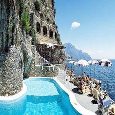 #Amalfi, #Italy#pools n ocean