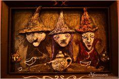 Withces Tea  OOAK artwork sculpture painting  by Vocisconnesse https://www.etsy.com/it/shop/Vocisconnesse