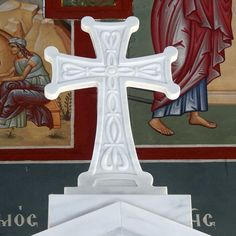 Marble cross for church, made using our CNC. 5 Axis Cnc, 3d Cnc, Cnc Machine, Marble, Symbols, Artist, Design, Desktop Cnc, Artists