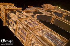 """Bajo el lema """"Sevilla, homenaje a la Danza"""" se ha construido esta """"obra de arte"""" de 40 metros de altura y 50 metros de ancho http://www.limagemarketing.es/ L'image Marketing   Agencia de Publicidad y Comunicación en Sevilla"""