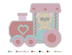 VALENTINE EXPRESS SET by JODY VIGEANT 2/5 - TRAIN WALL HANGING