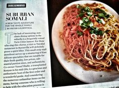 Somali Spaghetti from Tawakal Restaurant in Burnsville, Minnesota via Minneapolis St. Paul Magazine
