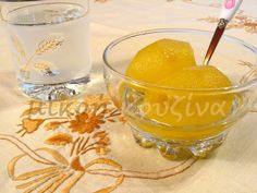 μικρή κουζίνα: Γλυκό κουταλιού φιρίκι Lemon Recipes, Greek Recipes, Marmalade, Punch Bowls, Preserves, Fig, Sweet Tooth, Alcoholic Drinks, Deserts
