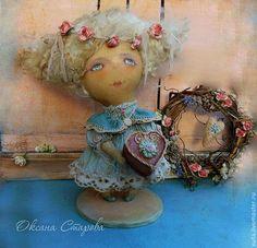 Ароматизированные куклы ручной работы. Ярмарка Мастеров - ручная работа. Купить Родных сердец прикосновенья.... Handmade. Голубой, подарок на свадьбу