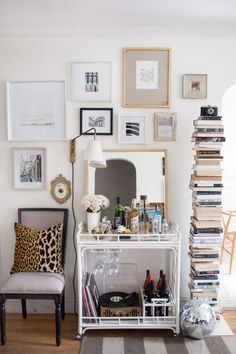 SHABBY + CHIC BAR CART The 12 Cutest Ways To Decorate Your Off-Campus Apartment
