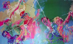LeRoy Neiman...GOLF CHAMPIONS Henri Matisse, Pablo Picasso, Leroy Neiman, Golf Art, Try To Remember, Sports Art, Event Venues, Fundraising, Cool Pictures