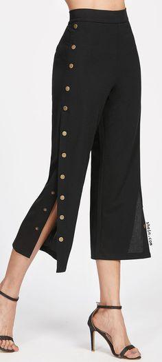 Metal Button Side Pants