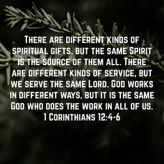 Pin by anel v d westhuizen on bible verses pinterest bible there are different kinds of spiritual gifts but the same spirit is the source of them all there are different kinds of service but we serve the same negle Image collections