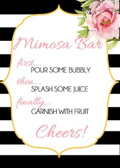 Mimosa Bar by ClassicDesignsbyKLM on Etsy                                                                                                                                                     More