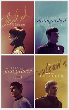 Young Spock, present Spock, TOS Spock, and Spock Prime, OOOO!! I LOVE IT!!