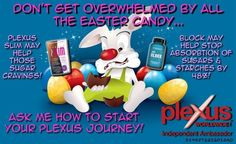 Are you worried about all that tasty Easter candy? Don't worry. Plexus slim and Block to the rescue.
