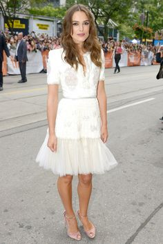 Best dressed - Keira Knightley in a Chanel white dress