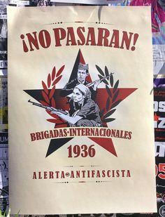 Spain - 1936. - GC - poster - Brigadas internacionales