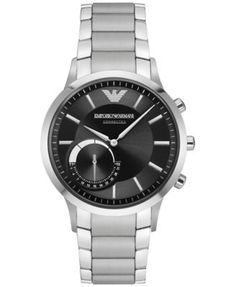 Emporio Armani Men's Renato Hybrid Stainless Steel Bracelet Smart Watch 43mm ART3000