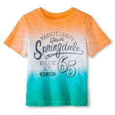 Toddler Boys' Activewear T-Shirt  - Orange/Green Dip Dye - Cherokee®