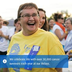 For all the survivors and so that there can be more. #WhyIRelay