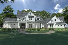 Country Farmhouse French Country Traditional House Plan