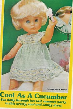 Vintage Magazine Pattern. Doll Patterns, Clothing Patterns, Knitting Patterns, Vintage Dolls, Knits, South Africa, Larger, Doll Clothes, First Love