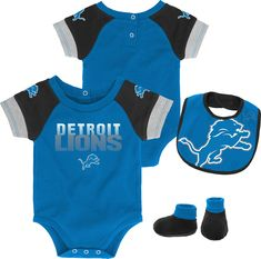 4bc00f7af81 Team Apparel Infant Detroit 50-Yard Onesie Set